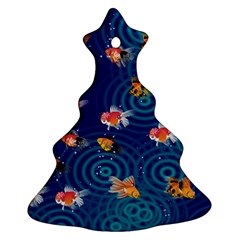 Fish Swim In The Ocean Christmas Tree Ornament (two Sides)