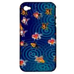 Fish Swim In The Ocean Apple Iphone 4/4s Hardshell Case (pc+silicone)
