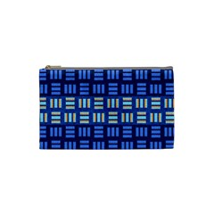 Textiles Texture Structure Grid Cosmetic Bag (small)