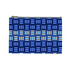 Textiles Texture Structure Grid Cosmetic Bag (large)