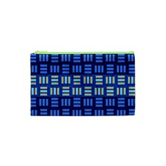 Textiles Texture Structure Grid Cosmetic Bag (xs)