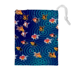 Fish Swim In The Ocean Drawstring Pouches (extra Large)