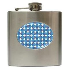 Geometric Dots Pattern Rainbow Hip Flask (6 Oz)