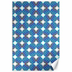 Geometric Dots Pattern Rainbow Canvas 20  X 30