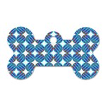 Geometric Dots Pattern Rainbow Dog Tag Bone (Two Sides) Back
