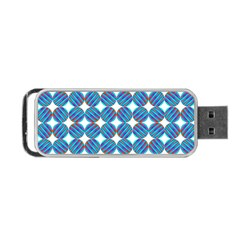 Geometric Dots Pattern Rainbow Portable Usb Flash (one Side)