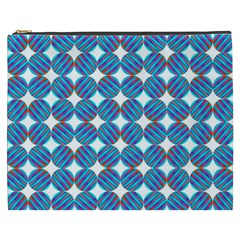 Geometric Dots Pattern Rainbow Cosmetic Bag (xxxl)