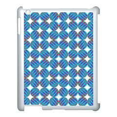 Geometric Dots Pattern Rainbow Apple Ipad 3/4 Case (white)