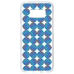 Geometric Dots Pattern Rainbow Samsung Galaxy S8 White Seamless Case