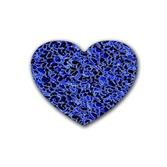 Texture Structure Electric Blue Heart Coaster (4 Pack)