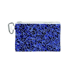 Texture Structure Electric Blue Canvas Cosmetic Bag (s)