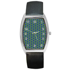 Texture Background Pattern Barrel Style Metal Watch