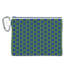 Texture Background Pattern Canvas Cosmetic Bag (l)
