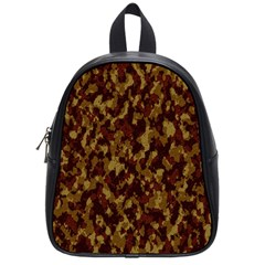 Camouflage Tarn Forest Texture School Bag (small)