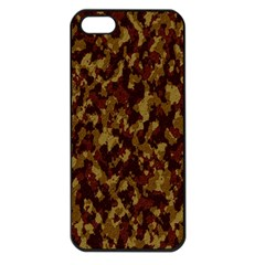 Camouflage Tarn Forest Texture Apple Iphone 5 Seamless Case (black)