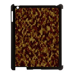 Camouflage Tarn Forest Texture Apple Ipad 3/4 Case (black)