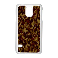 Camouflage Tarn Forest Texture Samsung Galaxy S5 Case (white)