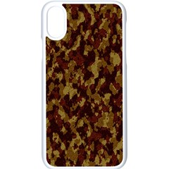 Camouflage Tarn Forest Texture Apple Iphone X Seamless Case (white)