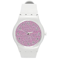 Texture Surface Backdrop Background Round Plastic Sport Watch (m)