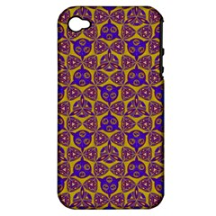 Sacred Geometry Hand Drawing 2 Apple Iphone 4/4s Hardshell Case (pc+silicone)