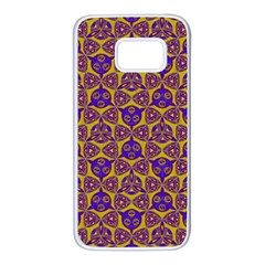 Sacred Geometry Hand Drawing 2 Samsung Galaxy S7 White Seamless Case