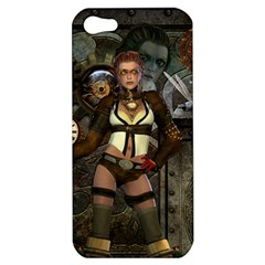 Steampunk, Steampunk Women With Clocks And Gears Apple Iphone 5 Hardshell Case
