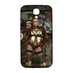 Steampunk, Steampunk Women With Clocks And Gears Samsung Galaxy S4 I9500/i9505  Hardshell Back Case