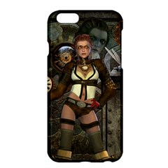 Steampunk, Steampunk Women With Clocks And Gears Apple Iphone 6 Plus/6s Plus Hardshell Case