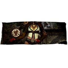 Steampunk, Steampunk Women With Clocks And Gears Body Pillow Case Dakimakura (two Sides)