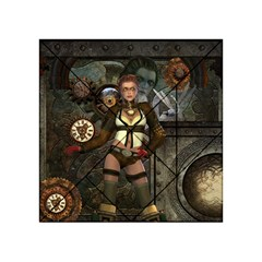 Steampunk, Steampunk Women With Clocks And Gears Acrylic Tangram Puzzle (4  X 4 )