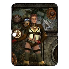 Steampunk, Steampunk Women With Clocks And Gears Samsung Galaxy Tab 3 (10 1 ) P5200 Hardshell Case