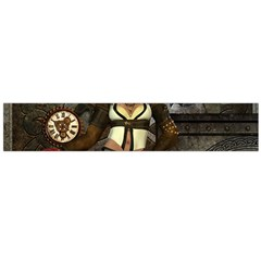 Steampunk, Steampunk Women With Clocks And Gears Flano Scarf (large)