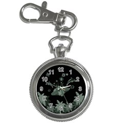 Surfboard With Dolphin, Flowers, Palm And Turtle Key Chain Watches