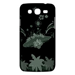 Surfboard With Dolphin, Flowers, Palm And Turtle Samsung Galaxy Mega 5 8 I9152 Hardshell Case