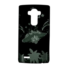 Surfboard With Dolphin, Flowers, Palm And Turtle Lg G4 Hardshell Case
