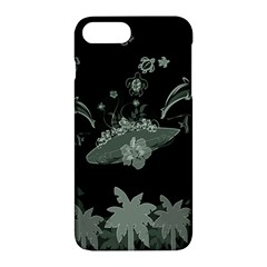 Surfboard With Dolphin, Flowers, Palm And Turtle Apple Iphone 7 Plus Hardshell Case
