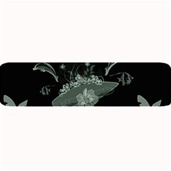 Surfboard With Dolphin, Flowers, Palm And Turtle Large Bar Mats