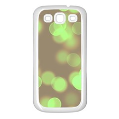 Soft Lights Bokeh 4c Samsung Galaxy S3 Back Case (white)