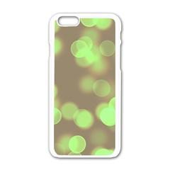 Soft Lights Bokeh 4c Apple Iphone 6/6s White Enamel Case
