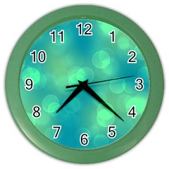 Soft Lights Bokeh 1b Color Wall Clocks