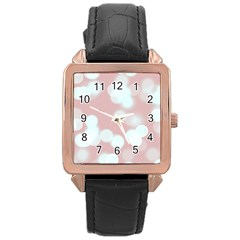 Soft Lights Bokeh 5 Rose Gold Leather Watch