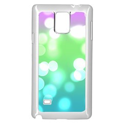 Soft Lights Bokeh 2 Samsung Galaxy Note 4 Case (white)