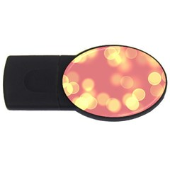 Soft Lights Bokeh 4b Usb Flash Drive Oval (2 Gb)