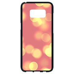Soft Lights Bokeh 4b Samsung Galaxy S8 Black Seamless Case