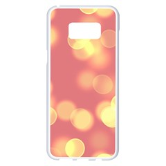 Soft Lights Bokeh 4b Samsung Galaxy S8 Plus White Seamless Case