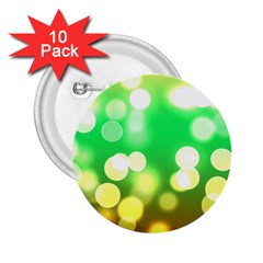 Soft Lights Bokeh 3 2 25  Buttons (10 Pack)