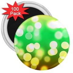 Soft Lights Bokeh 3 3  Magnets (100 Pack)
