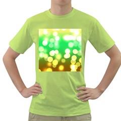 Soft Lights Bokeh 3 Green T Shirt