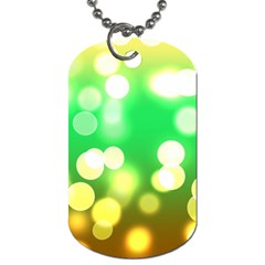Soft Lights Bokeh 3 Dog Tag (two Sides)