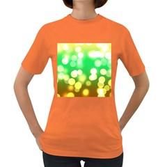 Soft Lights Bokeh 3 Women s Dark T Shirt